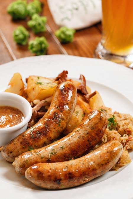 The 6 Most Famous German Sausage Varieties - Nuremberg Franks | Foodal.com