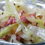 Cabbage Salad with Warm Bacon Recipe | Foodal.com