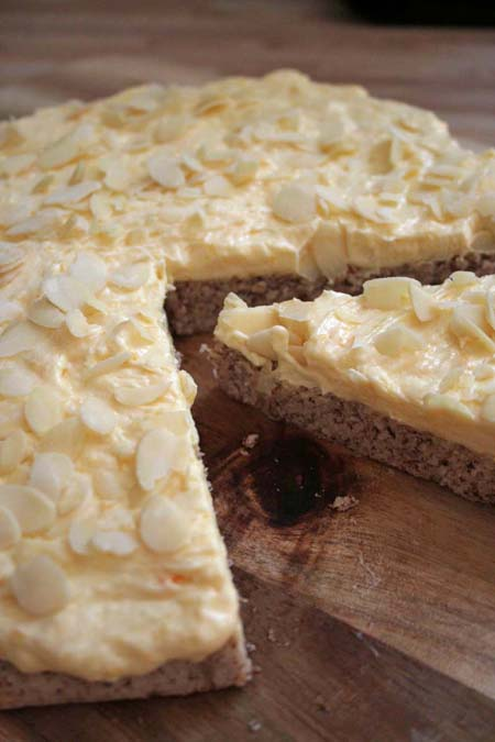 Enjoy a Piece of Scandinavia - Swedish Mandeltårta Tart | Foodal.com