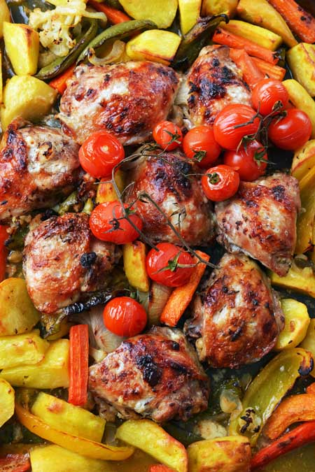Mediterranean Chicken Sheet Pan Supper | Foodal.com
