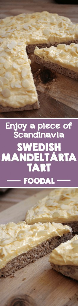 Discover a European dessert delicacy with Foodal. This Scandinavian almond tart will seduce you with its rich and delicious egg cream and a nutty, gluten-free base. Read on for the taste of Sweden! Smaklig måltid! https://foodal.com/recipes/desserts/enjoy-a-piece-of-scandinavia-swedish-mandeltarta/