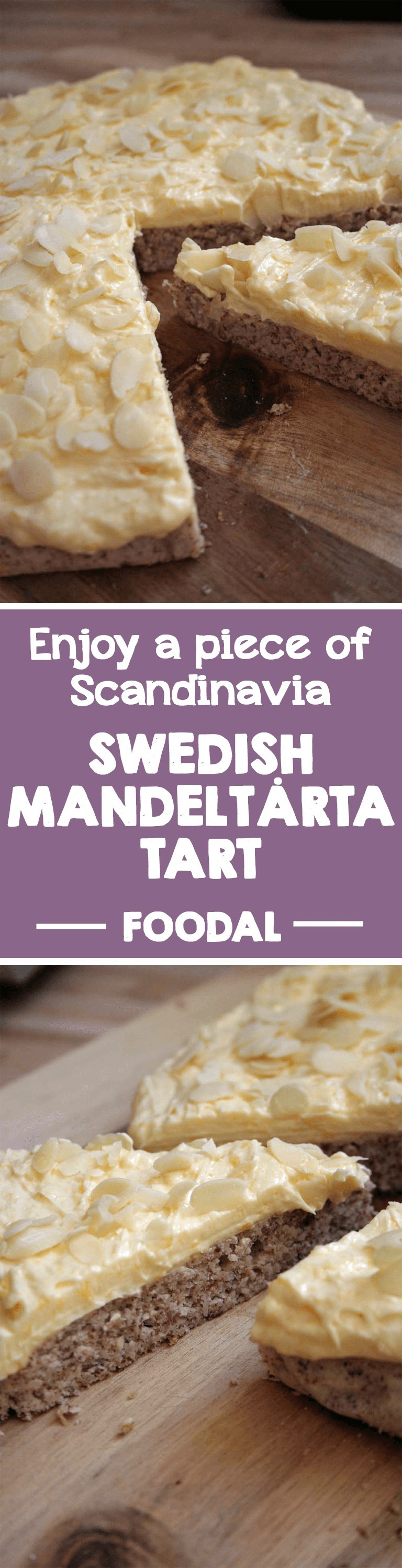 Discover a European dessert delicacy with Foodal. This Scandinavian almond tart will seduce you with its rich and delicious egg-cream and a nutty, gluten-free base. Read on for the taste of Sweden! Smaklig måltid! https://foodal.com/recipes/desserts/enjoy-a-piece-of-scandinavia-swedish-mandeltarta/