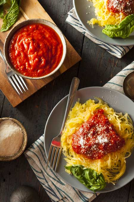 Spagetti Squash with Red Sauce | Foodal.com