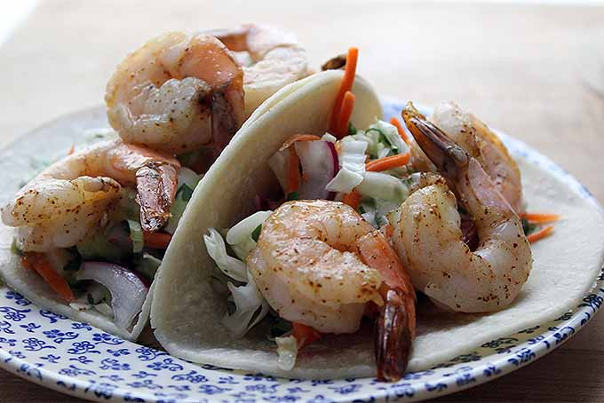 A Plate of Shrimp Tacos | Foodal.com