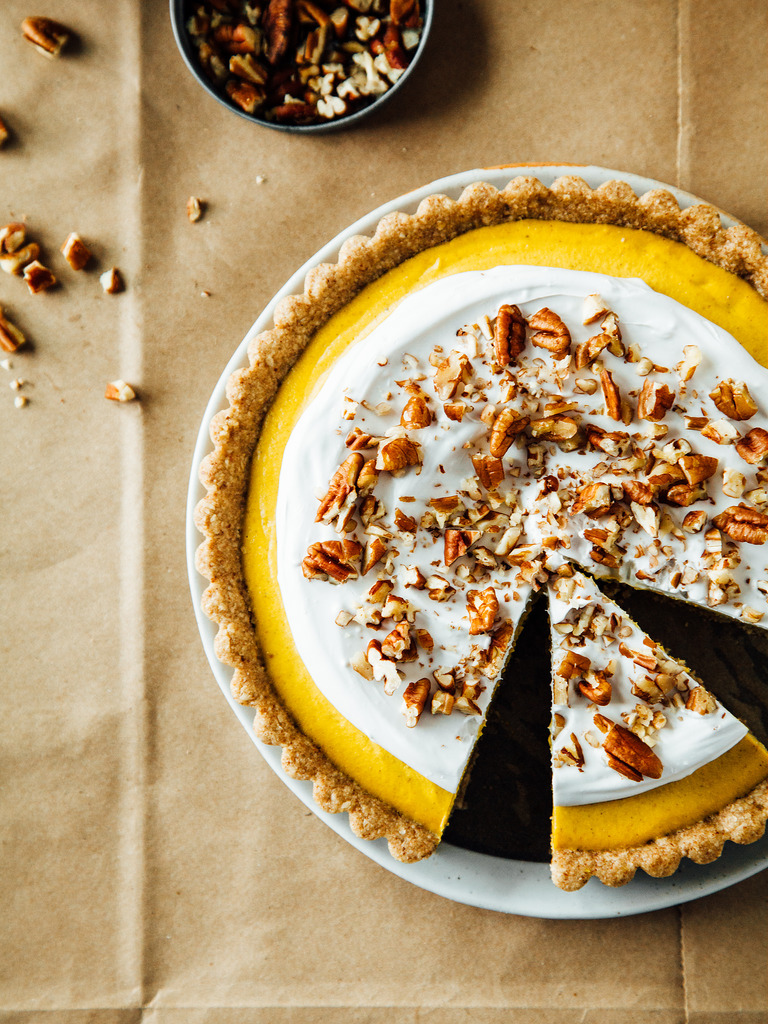 Ginger & Pecan Tart with Maple-Pecan Crust