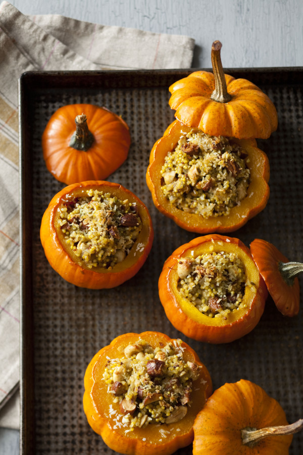 Nutty Curry Stuffed Squash