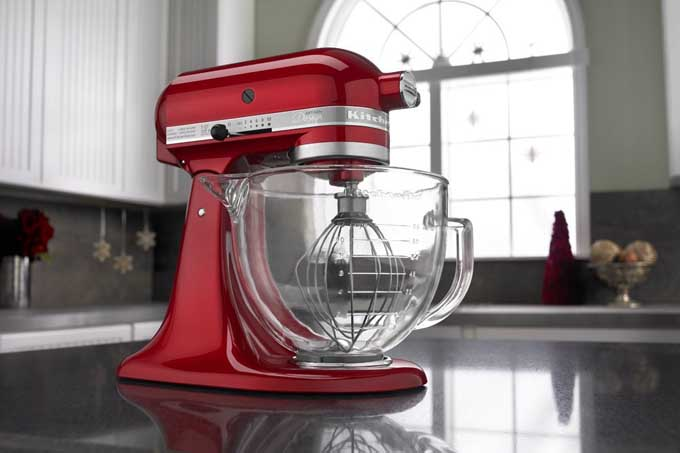 KitchenAid KSM155GB 5 Qt. Artisan Design Series Stand Mixer With Glass Bowl  Review |