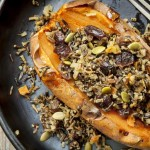 Recipe for Baked Yams with Cranberry Wild Rice Pilaf | Foodal.com