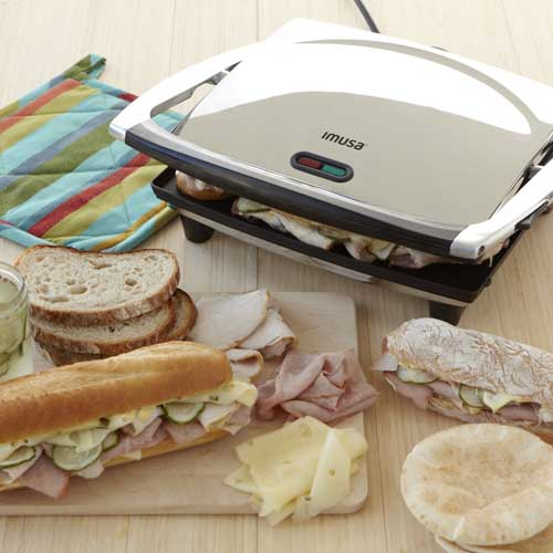 Review of the IMUSA, GAU-80102, Electric Panini and Sandwich Maker, Nonstick Panels | Foodal.com