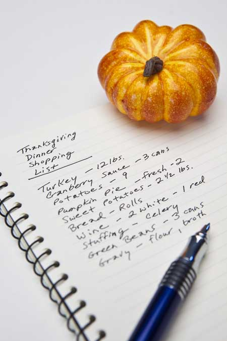 Thanksgiving Shopping List | Foodal.com