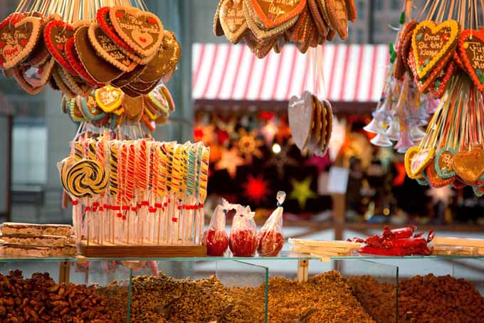 A candy shop at a German Christmas Market | Foodal.com