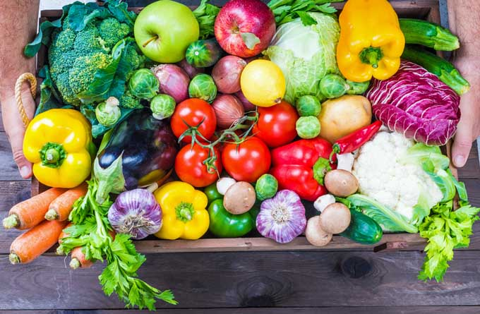 A delivery of fresh veggies from a CSA | Foodal.com