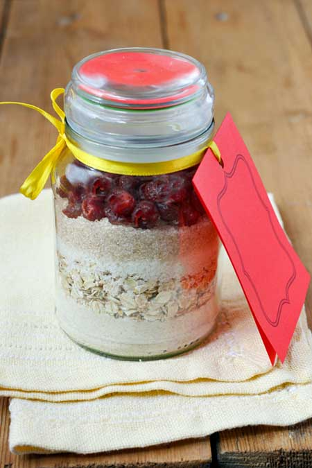 Homemade Cranberry Muffin Mix in a Jar   Foodal.com