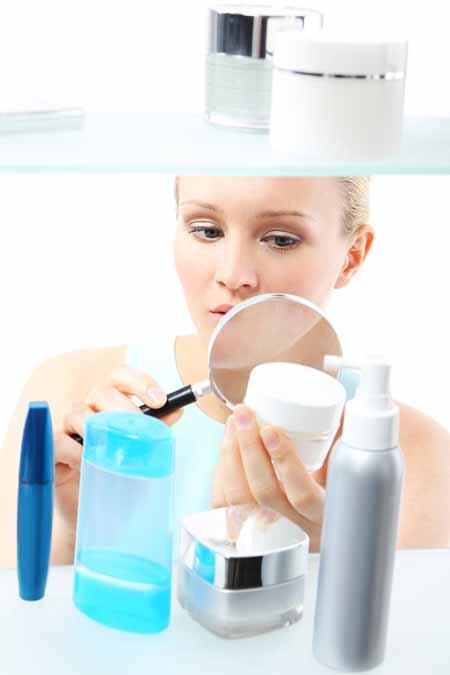 Read labels on cosmetics   Foodal.com