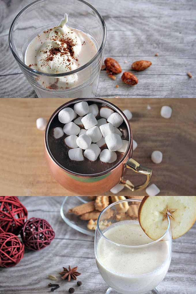 Warm up by the fire with three toasty drinks that are perfect for the Christmas season. We share the recipes: https://foodal.com/drinks-2/everything-else/christmas-in-a-mug-turn-winter-treats-into-warming-drinks/