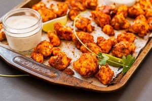 Easy Vegan Cauliflower Buffalo Wings with Lime