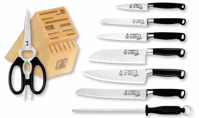 Messermeister San Moritz Elite 9-Piece Knife Block Set | Foodal.com