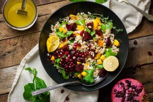 Roasted Butternut Squash and Beet Couscous Salad