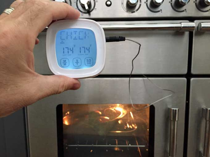 Supreme Home Cook Oven & BBQ Touchscreen Digital Meat Cooking Thermometer | Fooodal.com
