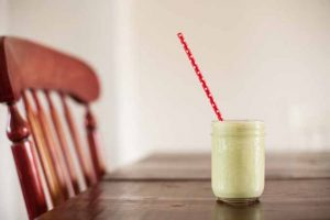 A Light, Refreshing, Icy Avocado Smoothie