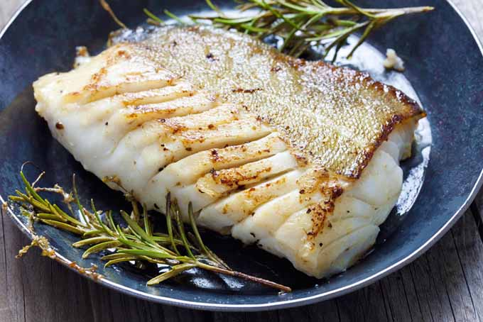 Pan fried Atlantic Cod in a carbon steel skillet | Foodal.com