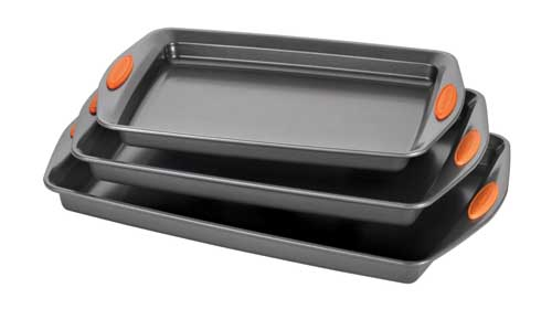 Rachael Ray Oven Lovin Nonstick Bakeware 3 Piece Baking And Cookie Pan Set