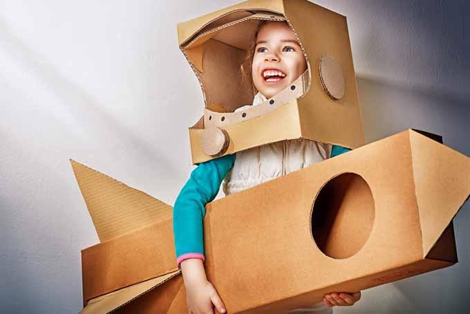Cardboard Astronaut Girl | Foodal.com