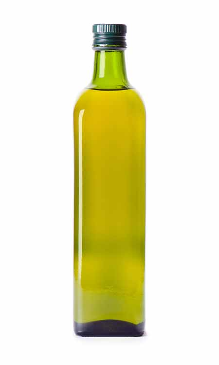 vegetable oil in a green glass bottle | Foodal.com