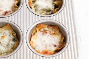 Make a Quick Dinner with Mini Mushroom Lasagna Cups