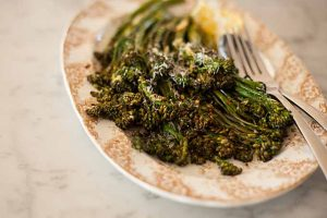 Roasted Baby Broccoli with Chili, Lemon and Dill