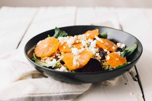 A Fancy Beet, Goat Cheese, and Orange Salad: Beautiful, Tasty, and Nutritious