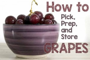 How to Pick, Prep, and Store Grapes