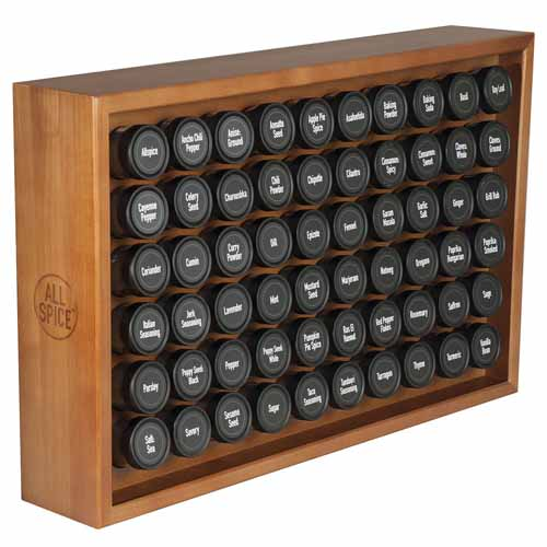 AllSpice Wooden Spice Rack In Cherry