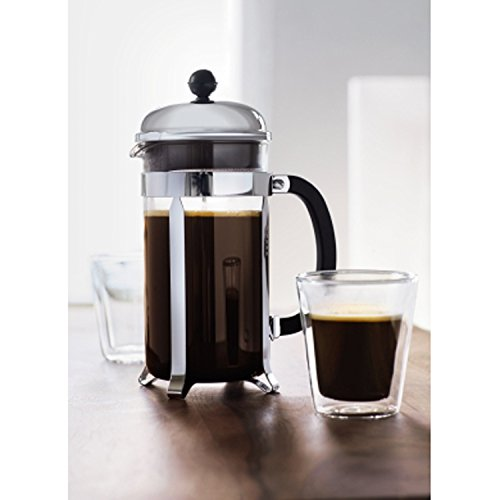 Bodum Chambord 8 cup French Press Coffee Maker, 34 oz., Chrome | Foodal.com
