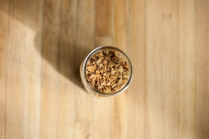 a sweet and simple minimalist granola