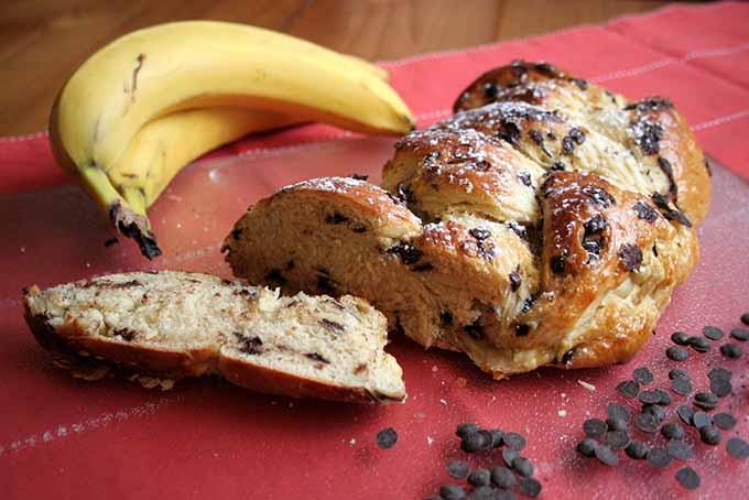 Sliced Chocolate Banana Braided Bread | Foodal.com