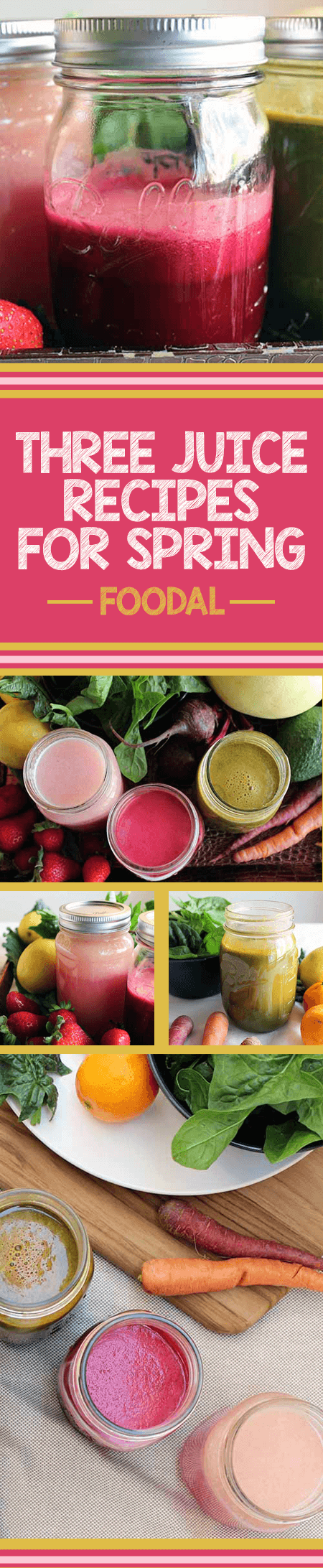 Are you looking for a way to include more spring produce in your diet? If so, try juicing your fruits and veggies! It's a delicious, easy, and healthy way to get the many vitamins, minerals, nutrients, and nutrition you so crave from them. In this article, we'll share 3 easy juicing recipes that showcase the best fruits and vegetables of the season. https://foodal.com/drinks-2/juice/three-recipes-for-spring/