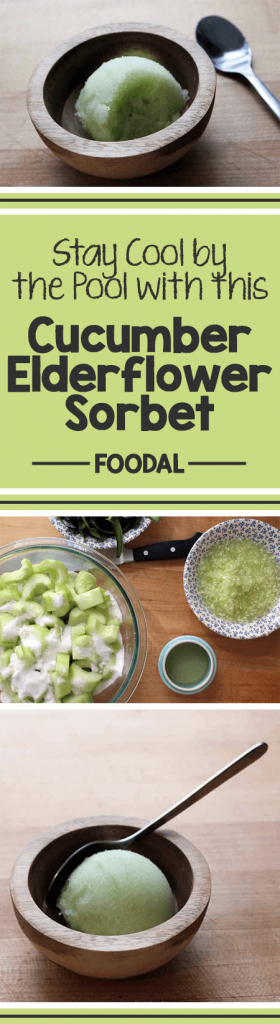 Keep cool this summer with homemade cucumber elderflower sorbet. This delightful flavor pairing makes for a refreshing afternoon snack or a sweet close to a cookout. Check out our recipe to learn a fun way to eat your vegetables for dessert. https://foodal.com/recipes/desserts/cucumber-elderflower-sorbet/