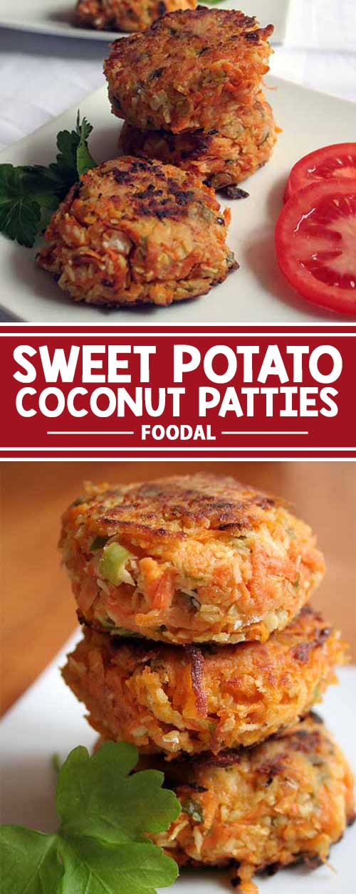 Looking for a flavorful and satisfying veggie burger? Try these sweet potato patties with chili, coconut and a dash of lime. Eat them on their own, or gussy them up with all the fixins. Read on for the recipe now!