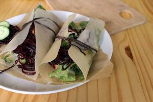 You'll Love This Tasty and Nutritious Spiralized Beet Noodle Wrap