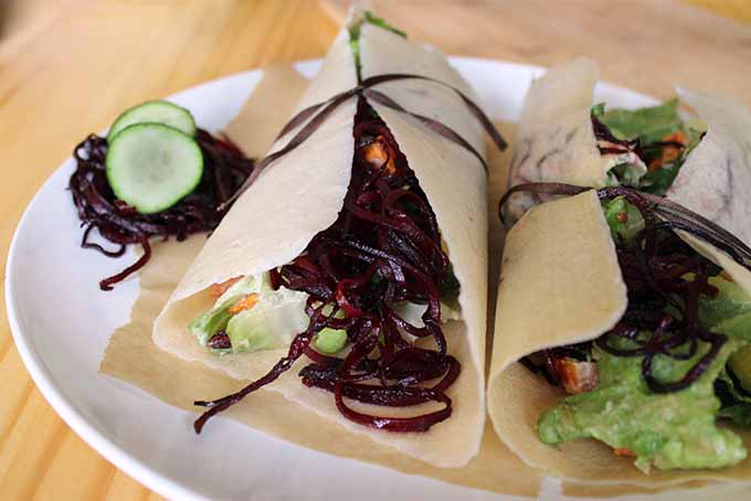 You'll Love These Spiralized Beet Noodle Wraps