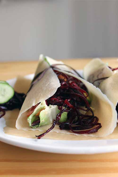 Looking for a new way to put your beets to good use? How about spiralizing them, and adding them to wraps? Get the recipe now on Foodal: https://foodal.com/knowledge/paleo/spiralized-beet-noodle-wrap/