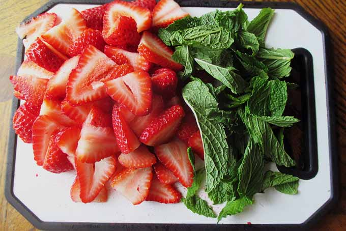 Chopped Strawberries and Mint | Foodal.com