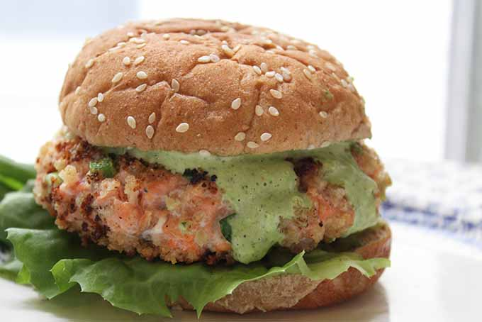 Salmon Burgers with Green Goddess Dressing Recipe | Foodal.com