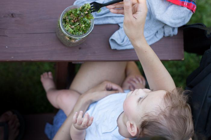 kale salad picnic