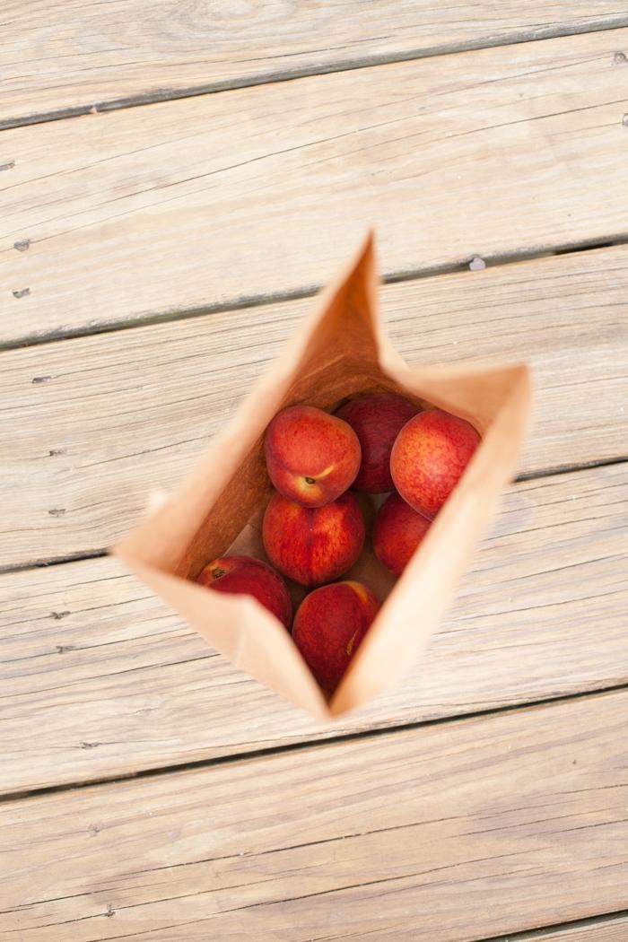 fresh may peaches for peach caprese salad