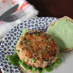 Plated Salmon Burger with Green Goddess Dressing | Foodal.com