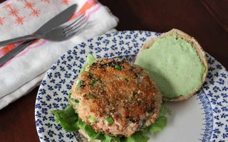Salmon Burgers with Classic Green Goddess Dressing