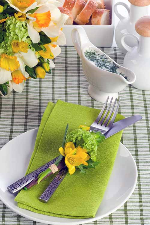 Think spring at your next party of family gathering! With fresh colors patterns & Springtime Table Setting is A Breeze | Foodal