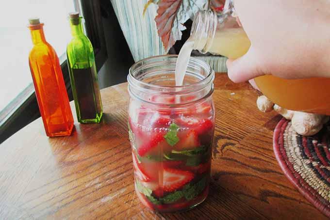 Pouring Vinegar in Shrub | Foodal.com